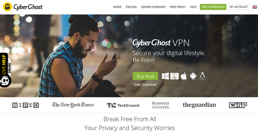 Cyberghost VPN UK