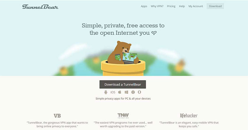 TunnelBear-free-vpn-for-gaming