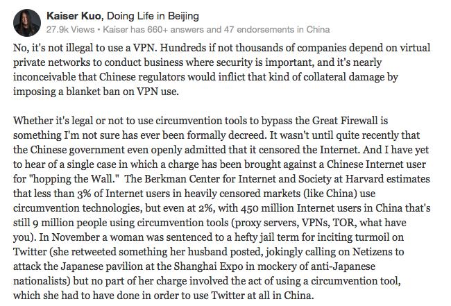 Is China VPN Illegal
