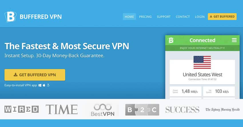 Buffered VPN for Crackle