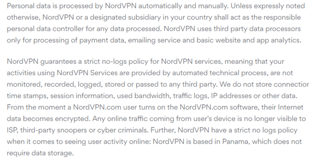 NordVPN Logs Policy