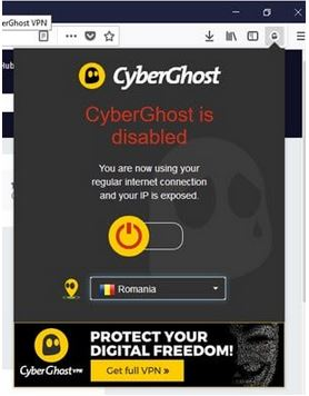Cyberghost Browser Addons