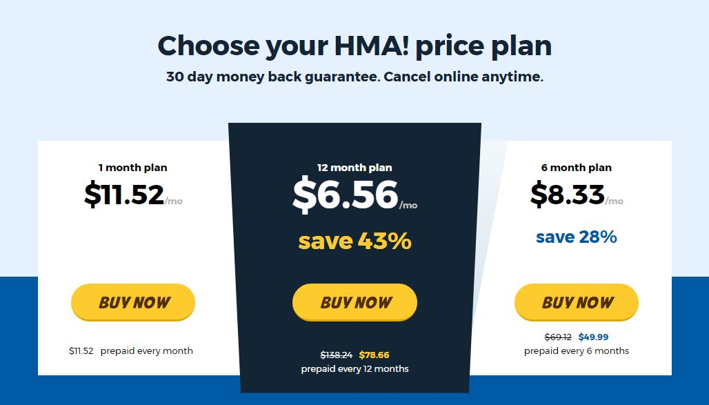 HMA Pricing Plan