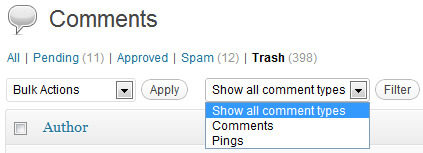wordpress-comments-filter
