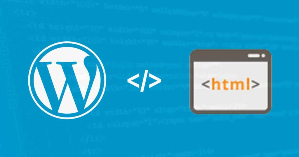 WordPress vs HTML