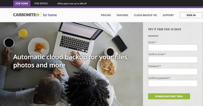 Carbonite Online Backup for PCs