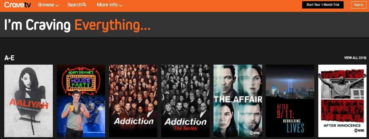 craveTV-website