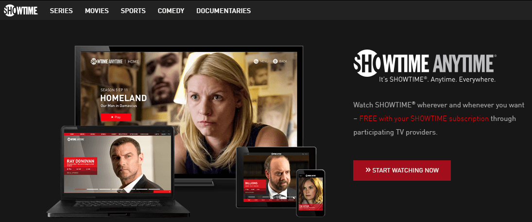 showtime-website