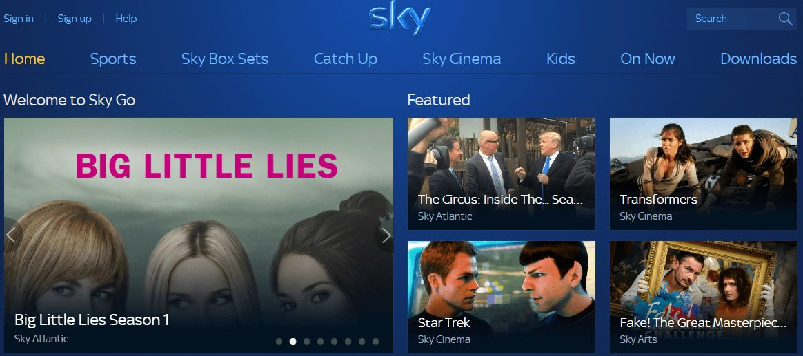 skygo-website
