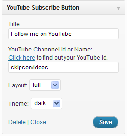 youtube subscribe button plugin