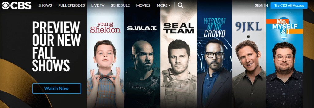CBS TV Shows Online Outside USA