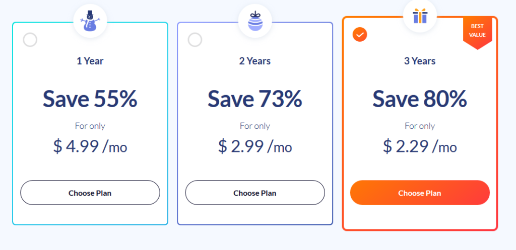 Safer VPN pricing