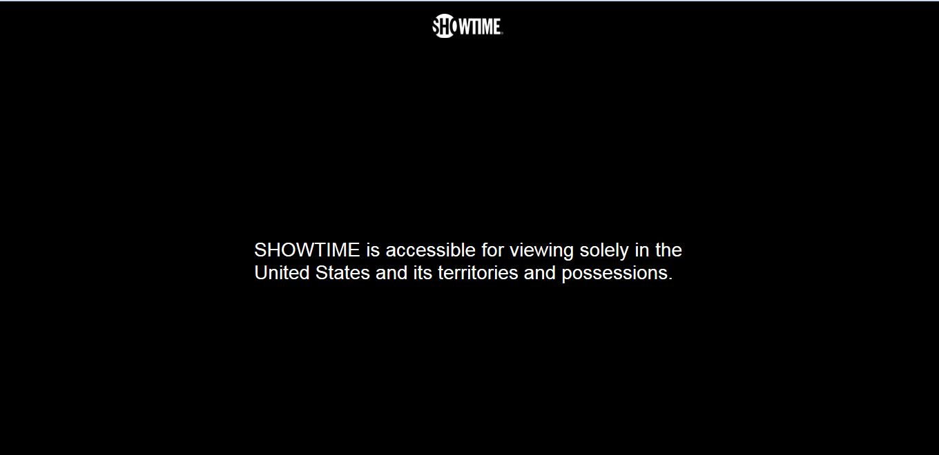 Showtime geo restriction error