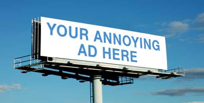 Annoying advertisement