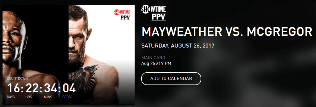 mayweather vs mcgregor showtime ppv