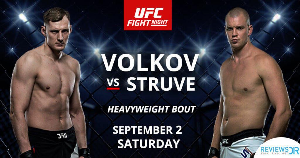Volkov vs Struve fight live online