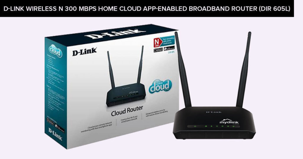 D-link-Wireless-N-300-Mbps-Home-Cloud-App-Enabled-Broadband-Router-(DIR 605L)