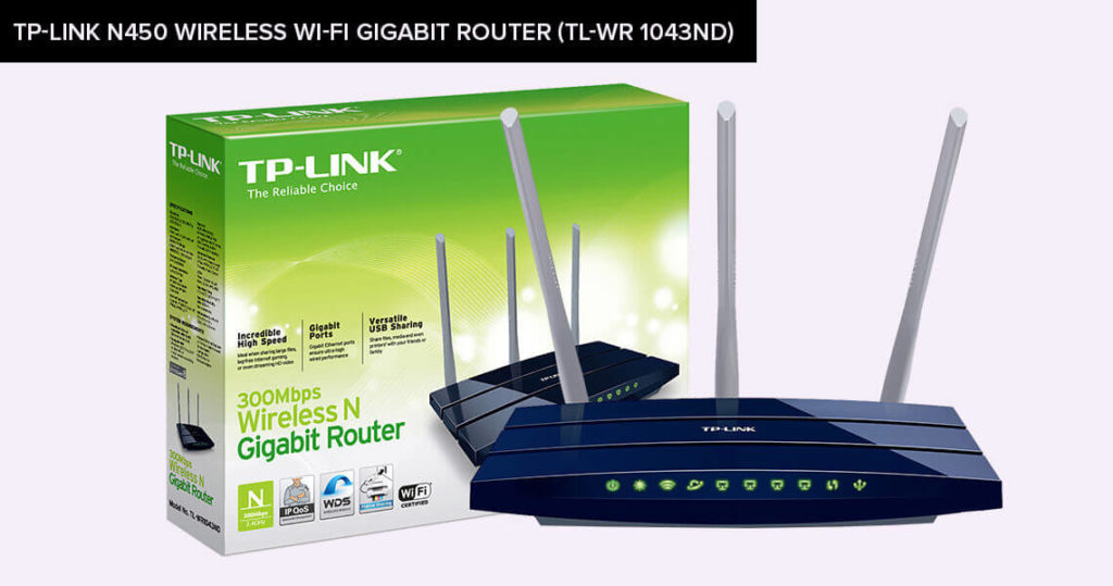 TP-Link-N450-Wireless-Wi-Fi-Gigabit-Router-(TL-WR 1043ND)