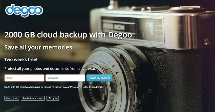 degoo free cloud photo storage