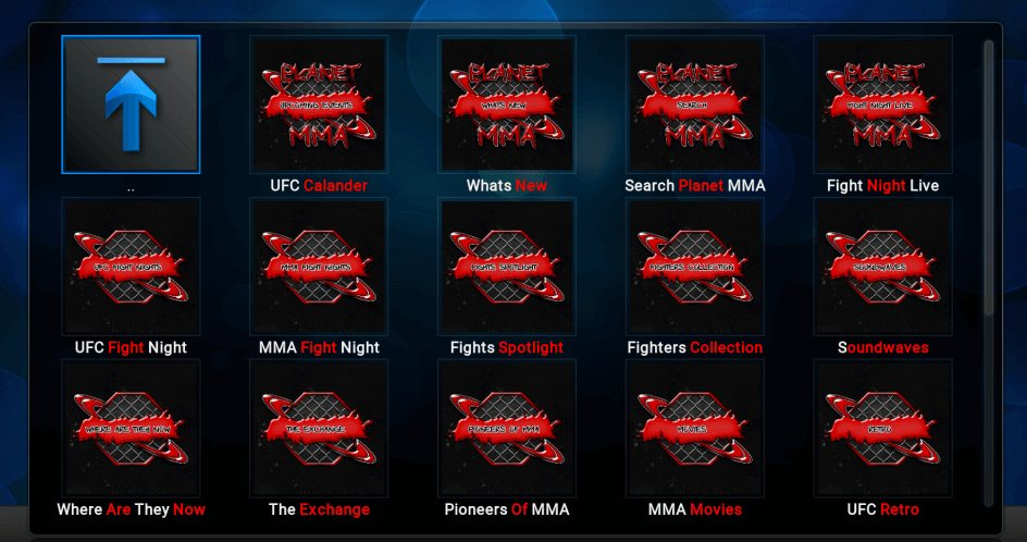 how to add ufc finest to kodi 2017