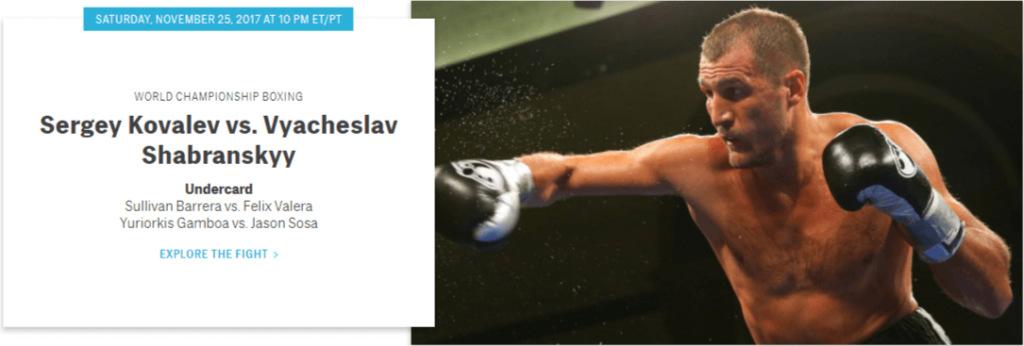 Kovalev vs Shabranskyy HBO