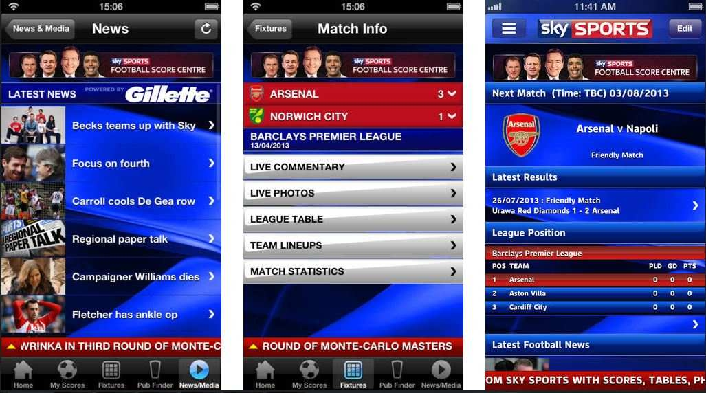 Skysports Mobile Apps