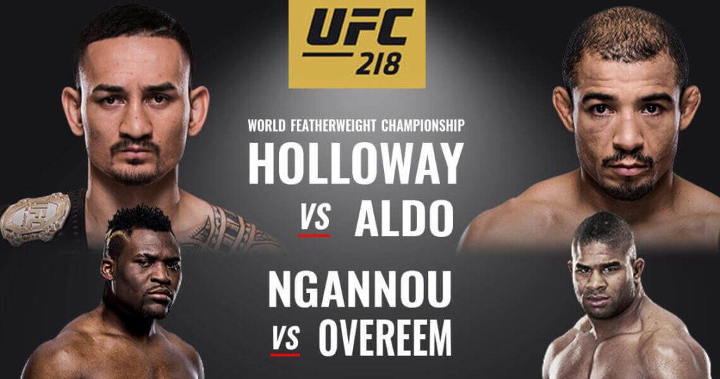 UFC 218 Aldo VS Holloway 2