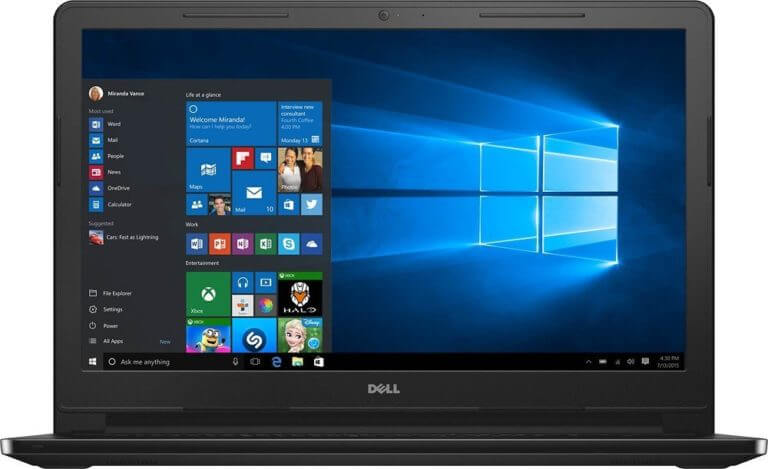 10- Dell Inspiron Touchscreen I3558-5501BLK