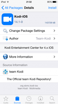 install kodi on ipad