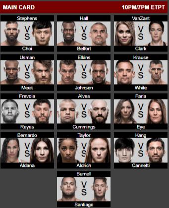 UFC 124 Fight Card