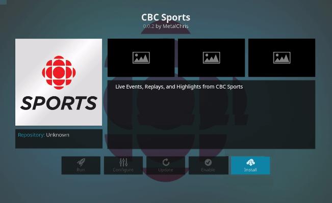 cbc sports kodi