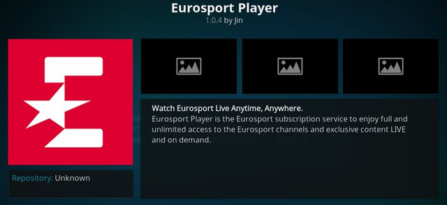 eurosport kodi