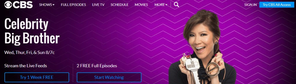 CBS All Access App For Celebrity Big Brother