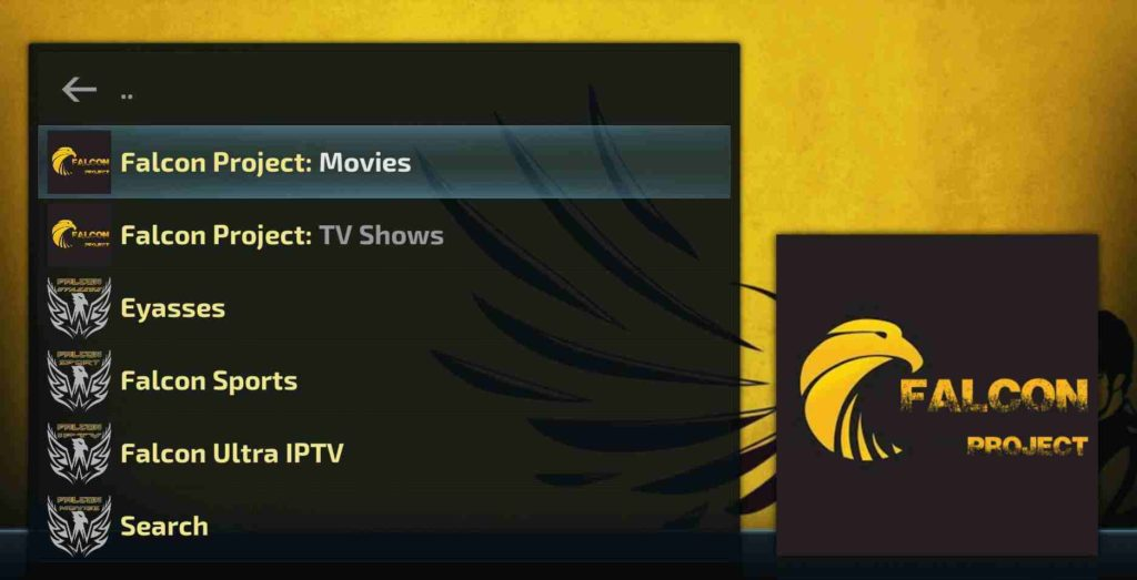 Falcon Kodi Movies Addon