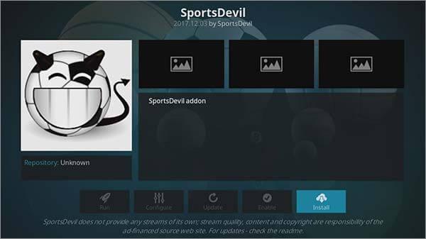 install sportsdevil