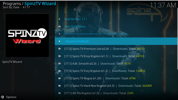 how to install spinz tv on kodi