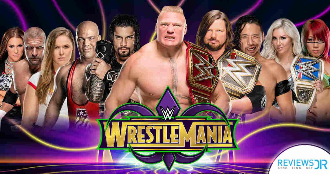 WWE Wrestlemania 34 Live Online