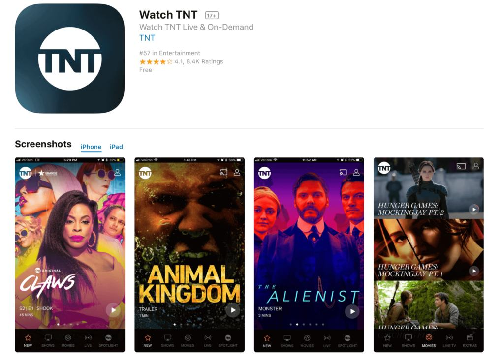 Watch TNT App