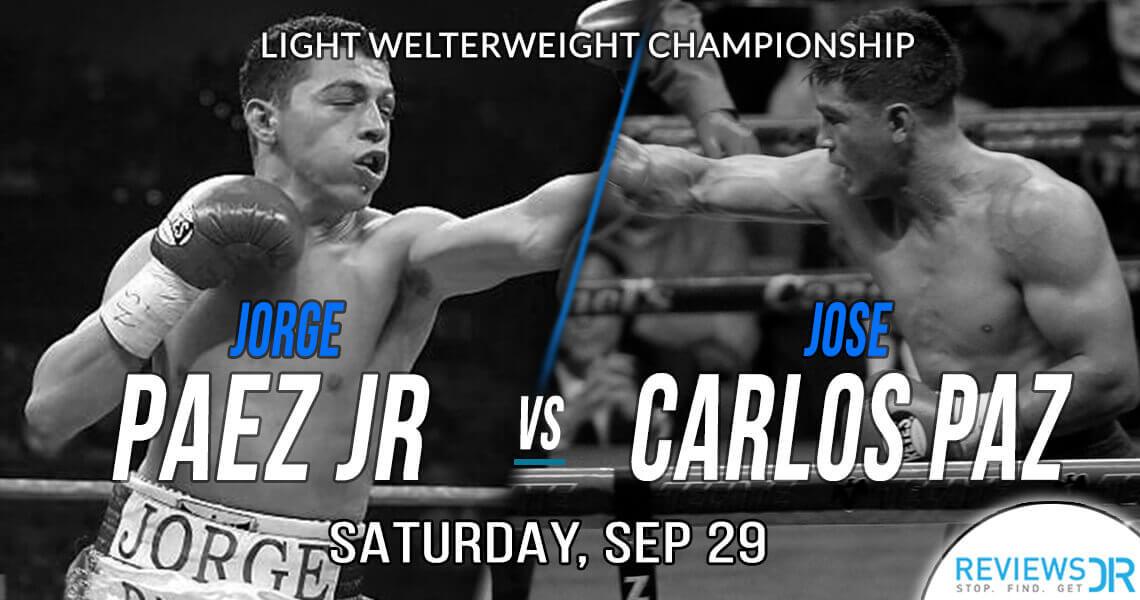 Jorge Paez Jr vs. Jose Carlos Paz Live Online