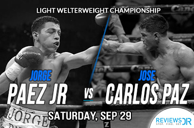 Jorge Paez Jr vs. Jose Carlos Paz Live Streaming