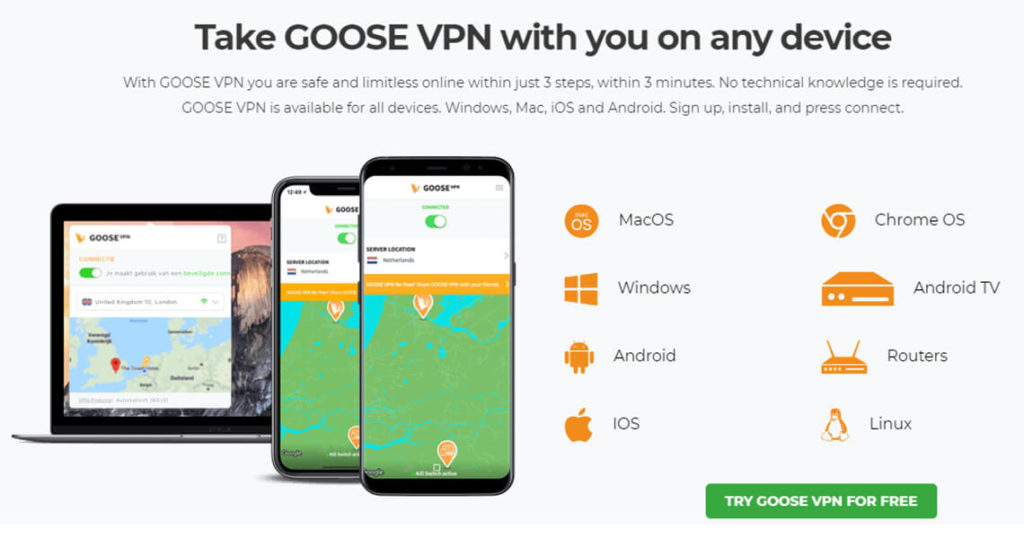 Goose VPN Supported Devices