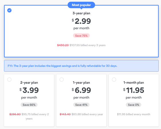 NordVPN Pricing and Discount