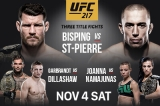 UFC 217: How To Watch Bisping VS St-Pierre Live Online